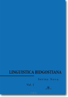Linguistica Bidgostiana.  Series Nova.  Vol. 1