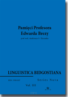 Linguistica Bidgostiana.  Series Nova.  Vol. 3