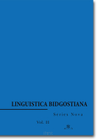 Linguistica Bidgostiana.  Series Nova.  Vol. 2